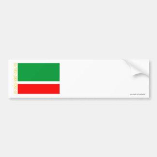 Tschetschenische Republik-Flagge Autoaufkleber