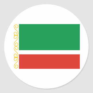 Tschetschenische Republik Runder Aufkleber