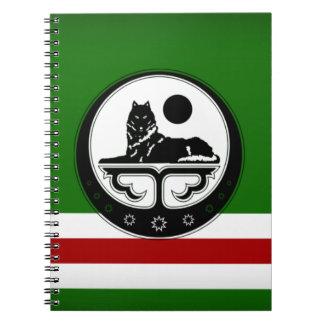 Tschetschenisches noteboock spiral notizbücher