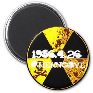 Tschornobylerinnerungsantinukleares Runder Magnet 5,1 Cm