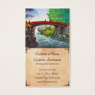 Tsuchiya Koitsu Nikko heilige Brücken-Japanerszene Visitenkarte