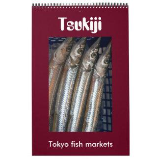 tsukiji Fischmärkte Abreißkalender
