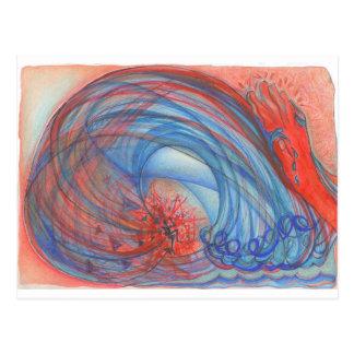 Tsunami des Hasses Postkarte