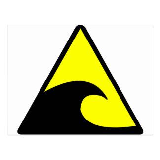Tsunami-Warnung Postkarte
