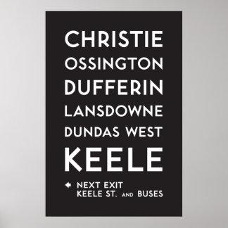 TTC - Bloor-Danforth Christie Plakat