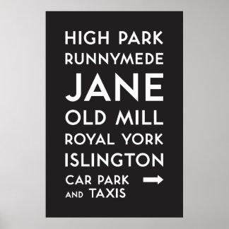 TTC - Bloor-Danforth hohes Park-Plakat Poster