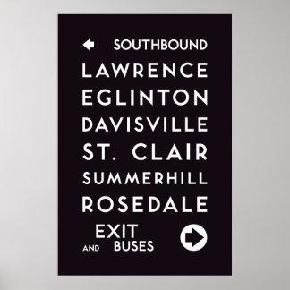 TTC - Nach Süden gehend Stations-Plakat Poster