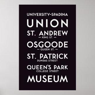 TTC - Universitäts-Spadina Plakat