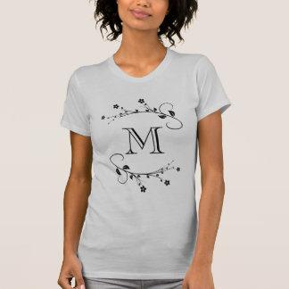Tu monograma und frühlings Blumen auf die person T-Shirt