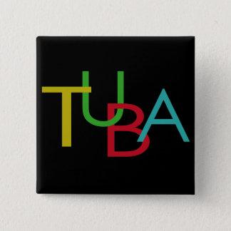 TUBA Buchstaben Quadratischer Button 5,1 Cm