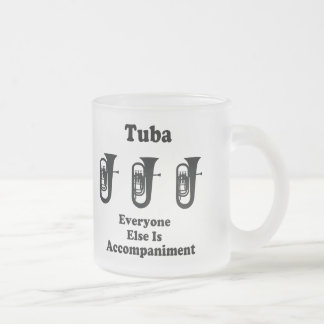 Tuba-Geschenk Mattglastasse