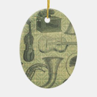 Tuba-Grammophon Keramik Ornament