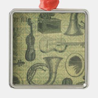 Tuba-Grammophon Silbernes Ornament