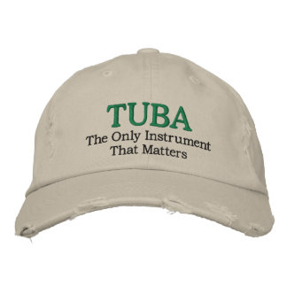 Tuba-Musik gestickter Hut Besticktes Cap