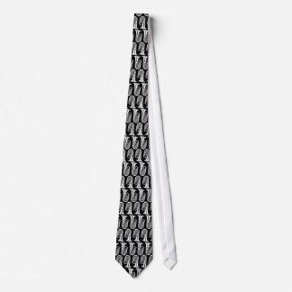 Tuba-Muster-Schwarzweiss-Krawatte Krawatte