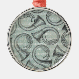 Tuba-Muster Silbernes Ornament