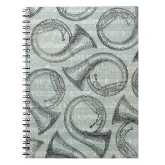 Tuba-Muster Spiral Notizblock