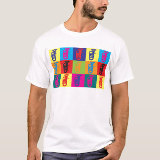 Tuba-Pop-Kunst T-Shirt