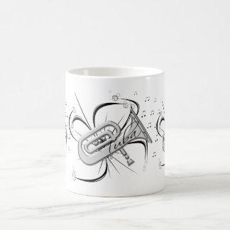 Tuba-Silber und Anmerkungen Kaffeetasse