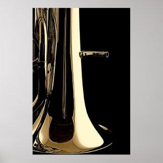 Tuba Souasphone Band-Musiker-Plakat Poster