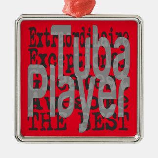 Tuba-Spieler Extraordinaire Silbernes Ornament