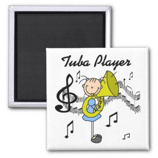 Tuba-Spieler-Magnet Quadratischer Magnet