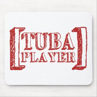 Tuba-Spieler Mousepad