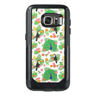 Tucan und Pfau-Muster OtterBox Samsung Galaxy S7 Hülle