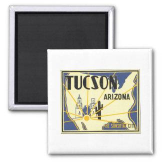 Tucson Arizona das Sonnenschein-Stadt-Vintage Plak Magnets