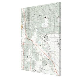 Tucson Arizona Map (1992) Leinwanddruck