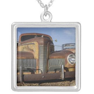 Tucumcari, New Mexiko, Vereinigte Staaten. Weg 66. Halskette Mit Quadratischem Anhänger
