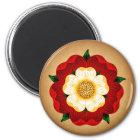 Tudor Rose Runder Magnet 5,1 Cm