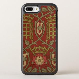 """""""Tudor Rose"""", Wiedergabetapete entwarf durch S OtterBox Symmetry iPhone 8 Plus/7 Plus Hülle"""