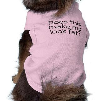 Tue ich suche fettes lustiges ärmelfreies Hunde-Shirt