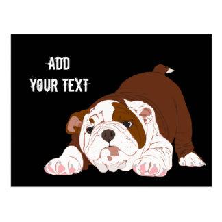 Tuff-Welpen-spielerischer Bulldoggen-Welpe Postkarte