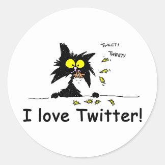 Tuffkitty-Lieben Twitter Runde Aufkleber