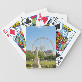 Tuileries Gärten in Paris, Frankreich Bicycle Spielkarten