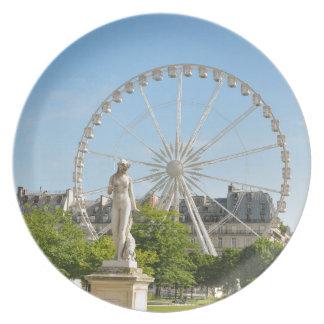 Tuileries Gärten in Paris, Frankreich Melaminteller