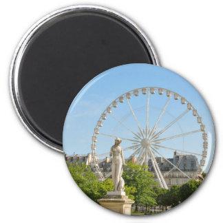 Tuileries Gärten in Paris, Frankreich Runder Magnet 5,7 Cm