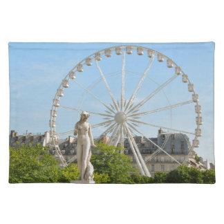 Tuileries Gärten in Paris, Frankreich Stofftischset