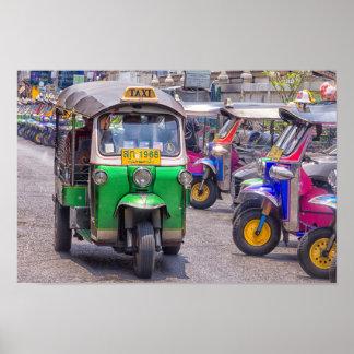 Tuk tuks in Bankok, Thailand Poster