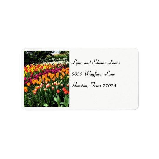 Tulpe-Adressen-Etikett Adressaufkleber