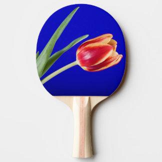 Tulpe auf blauem Hintergrund Tischtennis Schläger