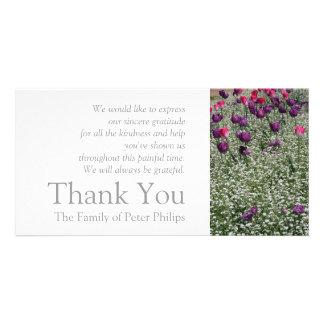 Tulpe-Beileid des Garten-1 danken Ihnen Foto-Karte Karte