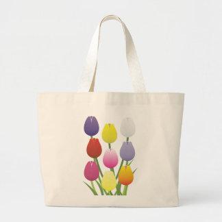 Tulpe-Blume Jumbo Stoffbeutel