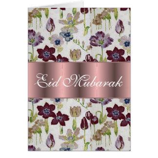 Tulpe-Blumenstrauß Eid Mubarak Karte