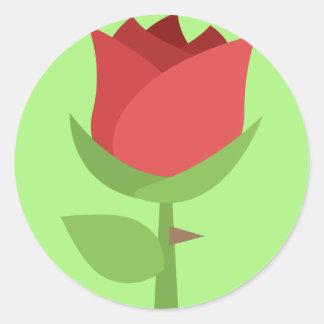 Tulpe Emoji Runder Aufkleber