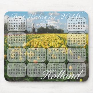 Tulpe fängt Kalender Hollands 2016 auf Mauspads