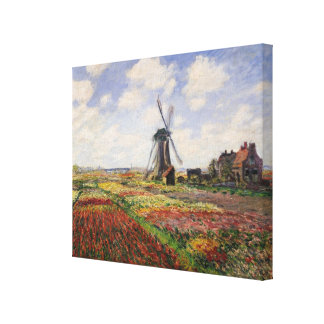 Tulpe-Felder Rijnsburg Windmühle Claude Monets | Leinwanddruck