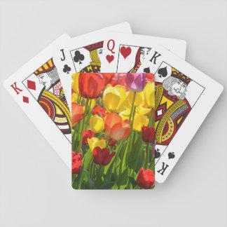Tulpe-Garten im Früjahr Spielkarten